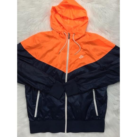 pila Fuera de borda es bonito  Nike Jackets & Coats | Windrunner Jacket Orange Navy Blue | Poshmark